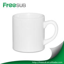 6 унций дешевые равнина керамическая белая кружка кофе
