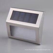 Solar Power LED Licht Treppe Weg Wand Garten Hof Lampe Edelstahl Weg Schritt Treppen Bodenbeleuchtung