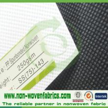 Tissu non-tissé collé tourné par polypropylène de 100% pour l'industrie de chaussures