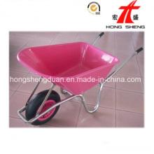 Wb6414 China Fornecedor de carrinho de mão de alta qualidade rosa-plástico