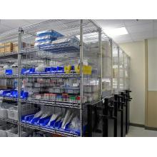 Rack de rangement à écran de pharmacie de l'hôpital NSF réglable