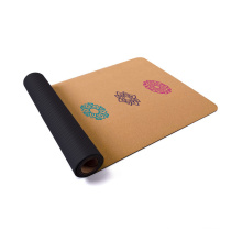 eco friendly wholesale custom custom design natural cork rubber anti-slip yoga mat