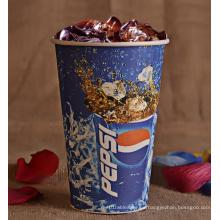 Taza de papel de pared simple para Cola