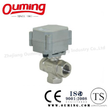API Stainless Steel Three-Way Electric Ball Valve