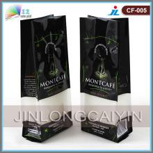 Válvula de café bolsa de embalaje con fuelle lateral