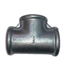"""1 """"igual galvanizado Tee Racores de tubería de hierro maleable"""