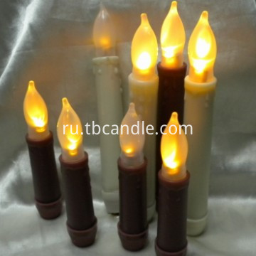 Bright flameless LED taper candle with timer