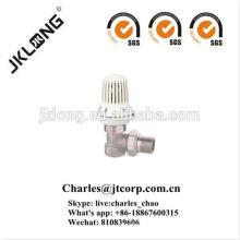 Válvula de radiador de latão banhado a níquel SGS certificado