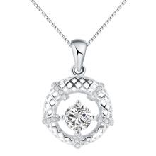 Fashion korea Jewelry Twinkle sky creuse ronde pendentif en argent cadeau vente chaude