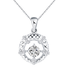 Fashion korea Jewelry Twinkle sky hollow round pendant in silver hot sell gift