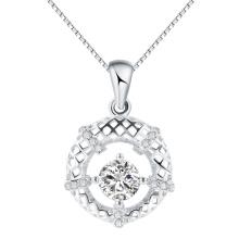 Moda korea jóias cintilação céu oco redondo pingente em prata quente vender dom