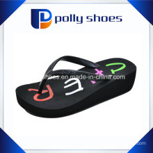 Women′s Wedge Thong Flip Flop Sandals Retro Upper Color Thong
