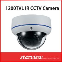 1200tvl IR Vandalproof cámara de seguridad fija IR CCTV cúpula