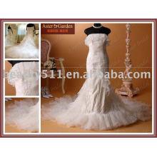 Vestido de boda popular de la venta caliente del satén popular de la manera nuevo RB022