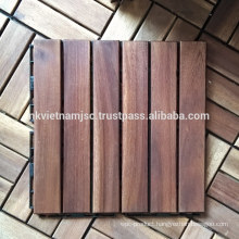 High Quality Deck Tiles 300x300x19 mm - Long Lasting Outside by Oil Coating