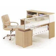 Bureau de bureau contemporain, bureau de bureau à siège simple avec écran (KW824)