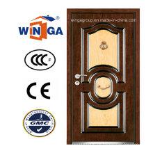 DIY neue außerhalb MDF Sicherheit Stahl Holz gepanzerte Tür (W-A13)