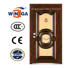 DIY New Outside MDF Security Steel Wood Armored Door (W-A13)