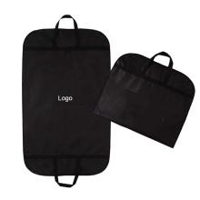 custom Eco Friendly Storage foldable garment bag suit clothes non-woven black color garment suit cover