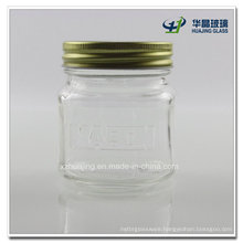 250ml 8oz Square Glass Jam Mason Jar Wholesale