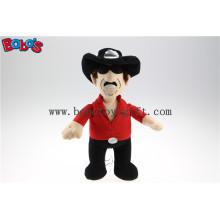 """11.8 """"Китай Пользовательские игрушки щенка Фаршированные Западной куклы ковбой с оптовой ценой Bos1129"""