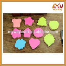 Underquote notas decorativas pegajosas com diferentes tipos, novos produtos para crianças