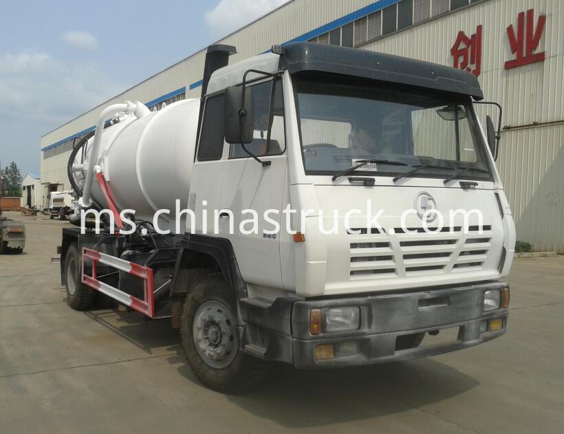 Shacman 12000 liters fecal sewage suction truck