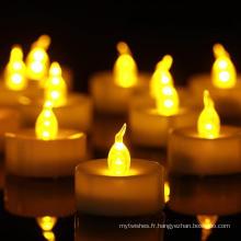 Décorations de bougies de Noël Bougie chauffe-plat LED