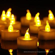Decorações de vela de Natal LED luz vela tealight