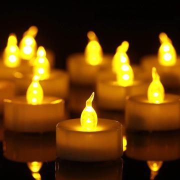 Decoraciones para velas navideñas Vela candelita con luz LED