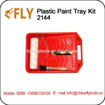 Plastic Tray Kit roller brush set