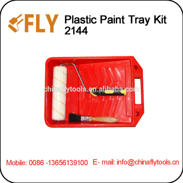 Kit de escova de rolo Kit de bandeja de plástico