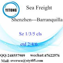 Shenzhen Port LCL konsolidering till Barranquilla