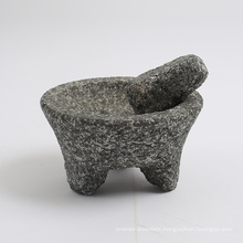 natural stone Granite mortar and pestle with large size 20x9cm