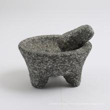 pedra natural Granito almofariz e pilão com tamanho grande 20x9cm