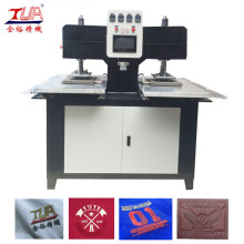 Two Working Positions Cloth Labels Embossing Machine