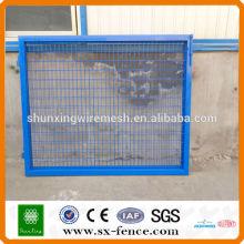 Blaue Farbe Entwurf PVC gemaltes Ineinander greifen-Tor, Ineinander greiftür (ISO9001)