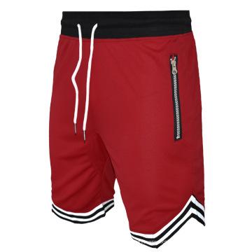 Shorts deportivos Gym Training para hombre con bolsillo con cremallera