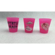 Vaso de color rosa, Vaso de color de neón
