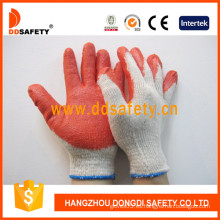 Guante de látex de punto, guantes de látex de algodón (dkl313)
