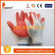 Gant en latex tricoté, gants en latex en coton (DKL313)
