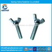 Blue- White Plated Carbon Steel Wing Bolts