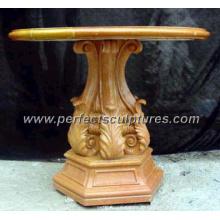 Antiga mesa de jardim de mármore de pedra para decoração de jardim (qtb020)