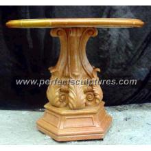 Античный камень мраморный стол сада для украшения сада (QTB020)