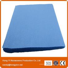 Tissu non tissé matériel de cuisine de tissu de polyester, tissu de nettoyage perforé par aiguille