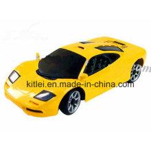 Mini carro de brinquedo amarelo