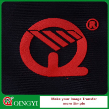 Qingyi best price custom tshirt flock heat transfer clothing label