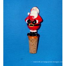 Bocal de garrafa de Santa para decoração de Natal