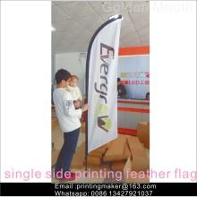 Insegne delle bandiere della bandiera della piuma di pubblicità su ordinazione