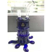 18 Cm Blue Mini Glass Cup Turb Dome and Nail Oil Rigs Smoing Pipes Water pipes Bubbler 14.4mm Recycler pipes